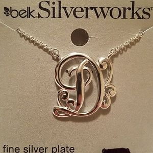 Fancy D style silver plated